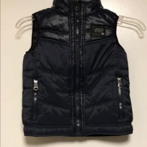 Diesel Navy quilted zip up boys vest